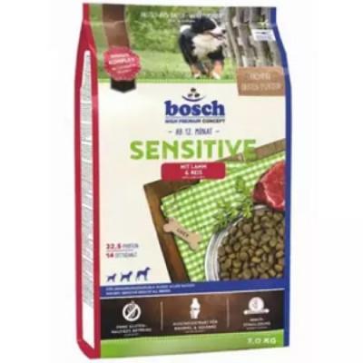 Bosch Sensitive с ягнёнком и рисом сухой корм для собак 1 кг арт.5219001