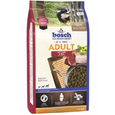 Bosch Adult с ягнёнком и рисом сухой корм для собак 1 кг арт. 5208001