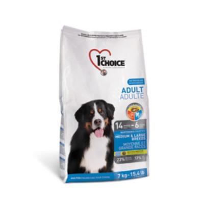 1ST CHOICE сухой корм для собак средних и крупных пород с курицей 15кг арт.102.317