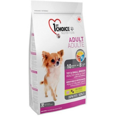 1ST CHOICE сухой корм для декоративных собак с ягненком, рыбой и рисом 2,72 кг арт.102.3011