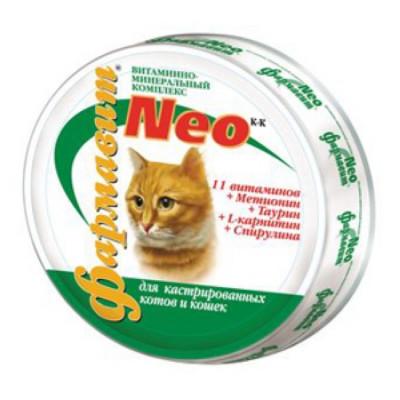 ФН-114 Фармавит НЕО для кастрированных котов и стерильных кошек 60 таб