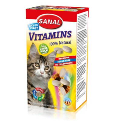Санал для кошек Витамин (Содержит В1, В2, В6, В12) 400гр