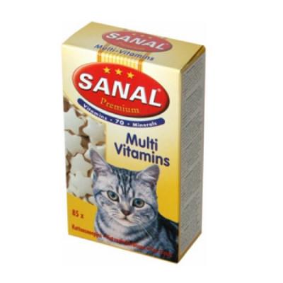Санал для кошек Премиум с пшеничными зародышами 85таб