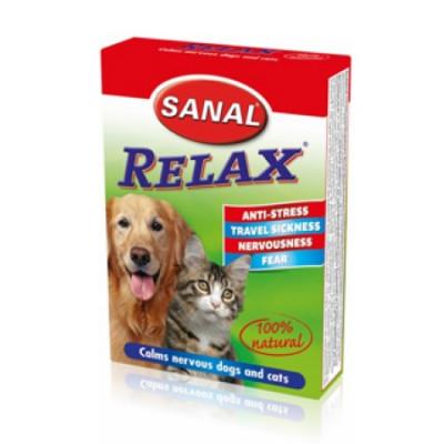 Санал для кошек и собак RELAX уникальное натуральное антистрессовое средство 15 таб
