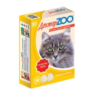 ДОКТОР ЗОО витамины для кошек со вкусом Сыра 90 таб