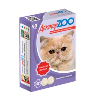 ДОКТОР ЗОО витамины для кошек со вкусом Лосося 90 таб