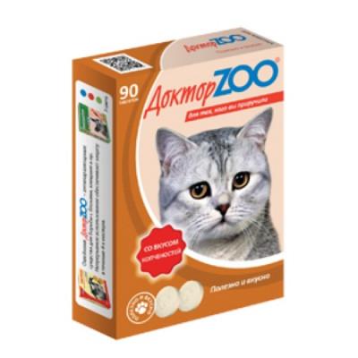 ДОКТОР ЗОО витамины для кошек со вкусом Копченостей 90 таб