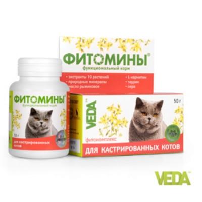 Фитомины для Кастрированных  котов 100 таб