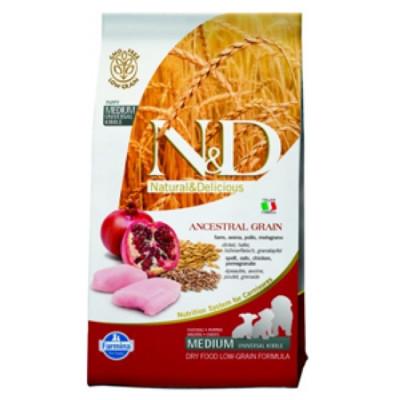 Фармина (FARMINA N&D LG) корм для щенков, беременных и кормящих сук мелких и карликовых пород Курица с Гранатом 0,8 кг