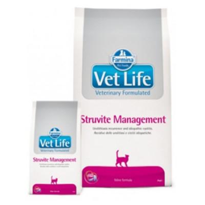 Фармина (FARMINA Vet Life STRUVITE Management) диета для кошек при МКБ и идиопатическом цистите 400 г