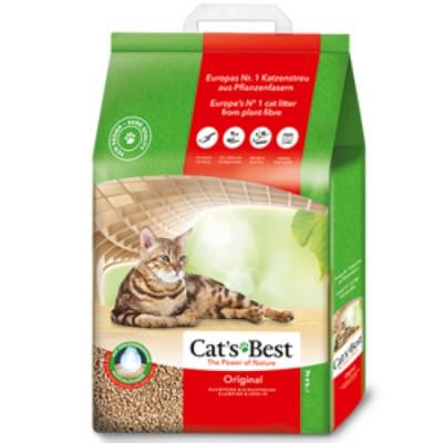 Наполнитель Cat's Best Original 10л 4,3кг Древесный комкующийся