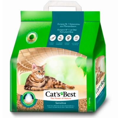 Наполнитель Cats Best Sensitive Древесный комкующийся для котят и кошек 8л 2,9кг