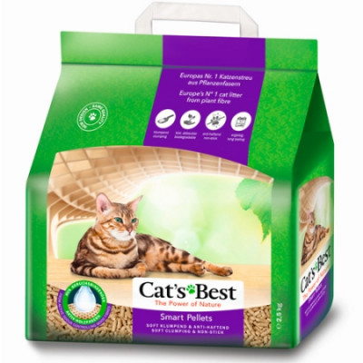 Наполнитель Cat's Best Smart Pellets 5л 2,5кг Древесный комкующийся