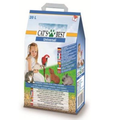Наполнитель Cats Best Universal  Клубника Древесный впитывающий ароматизированный 10л 5,5кг