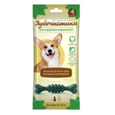 """Зубочистики """"Мятные"""" с хлорофиллом для собак средних пород 4 шт"""