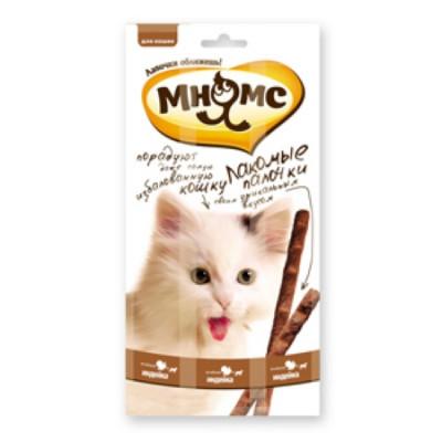"""Лакомство """"Мнямс"""" лакомые палочки для кошек с индейкой и ягненком 13,5 см"""