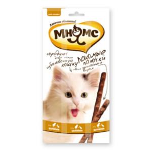 """Лакомство """"Мнямс"""" лакомые палочки для кошек с цыпленком и уткой 13,5 см"""