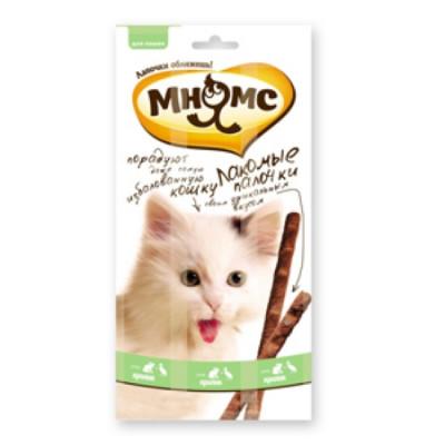 """Лакомство """"Мнямс"""" лакомые палочки для кошек с уткой и кроликом 13,5 см"""