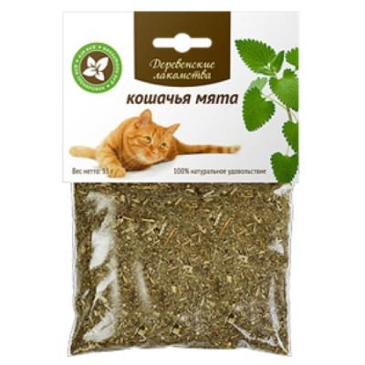Деревенские лакомства для кошек кошачья мята 70 гр
