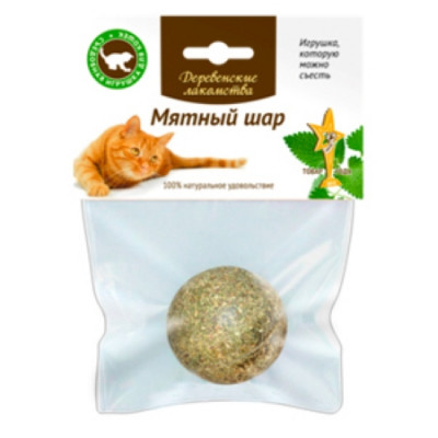 -Деревенские лакомства для кошек мятный шар