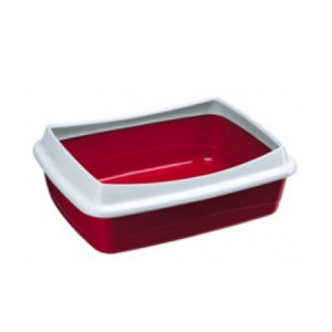 Туалет для кошек с бортом Ферпласт DODO разноцветный 46x35x11см