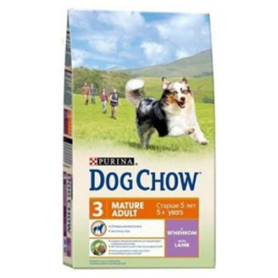 """DOG CHOW """"Mature Adult"""" сухой корм для взрослых собак старше 5 лет ягненок 2,5 кг"""