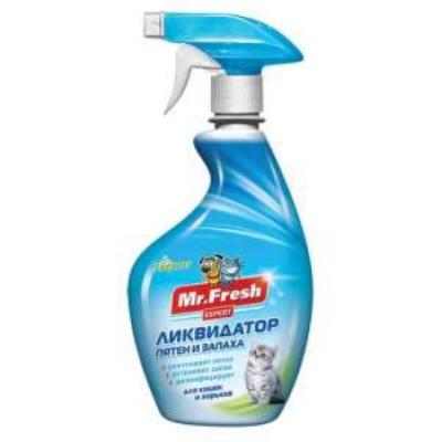 Mr.Fresh 3в1 Ликвидатор пятен и запаха для кошек 500 мл (спрей)