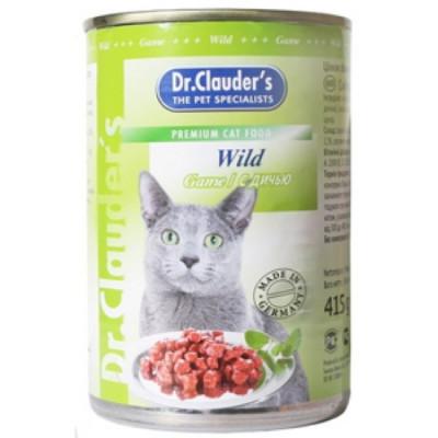 Dr Clauder консервы для кошек кусочки в соусе дичь 415 гр