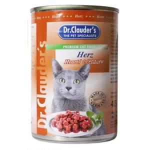 Dr Clauder консервы для кошек кусочки в соусе сердце 415 гр