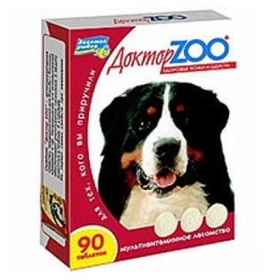 ДОКТОР ЗОО витамины для собак Здоровье кожи и шерсти 90 таб