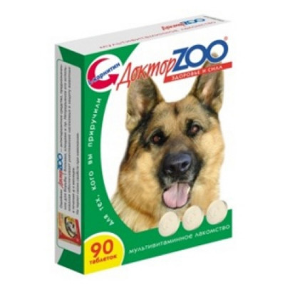 ДОКТОР ЗОО витамины для собак Здоровье и сила 90 таб