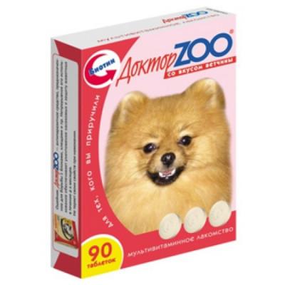 ДОКТОР ЗОО витамины для собак со вкусом ветчины 90 таб
