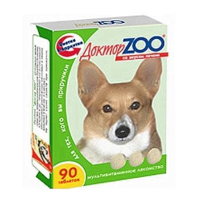 ДОКТОР ЗОО витамины для собак со вкусом печени 90 таб