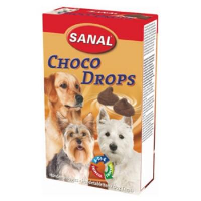 Санал для собак Шоколадные Дропсы + Витамины A, C, D, E 125 г