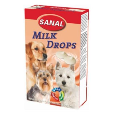Санал для собак Молочные дропсы + Витамины A, D, E 125 г
