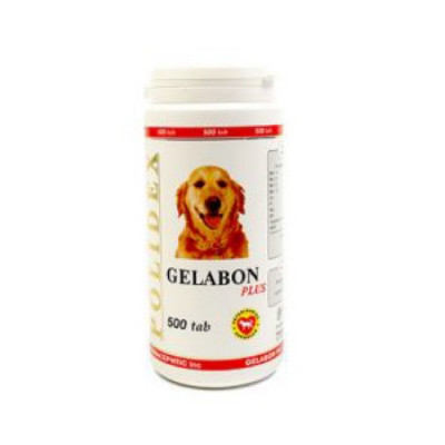 POLIDEX Гелабон плюс профилактика и лечение заболеваний суставов, костей для собак 500 таб