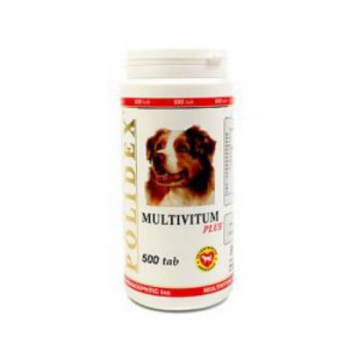POLIDEX Мультивитум плюс поливитаминно-минеральный комплекс для собак 500 таб