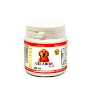 POLIDEX Гелабон плюс профилактика и лечение заболеваний суставов, костей для собак 150 таб