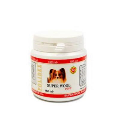 POLIDEX Супер Вул плюс улучшает состояние шерсти, кожи для собак 150 таб