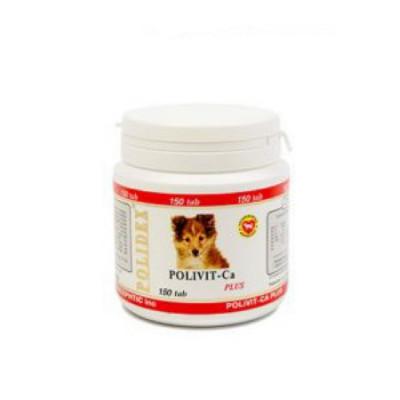 POLIDEX Поливит кальций плюс улучшение роста костной ткани для собак 150 таб
