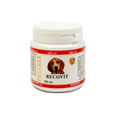 POLIDEX Рековит усиленный комплекс минералов, витаминов для собак 150 таб