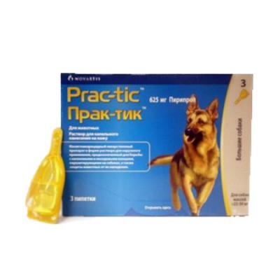 Практик Капли от блох и клещей  для собак 22-50 кг (3 пипетки)