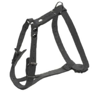 АРКОН Шлейка кожаная  размер 45-64 см x 20 мм  цвет  черный  один слой кожи