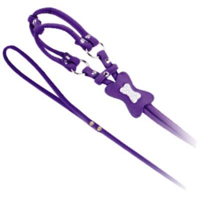 DEZZIE Шлейка для собак XS (шея 25см  грудь 31см) бархат  фиолетовая