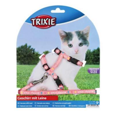 TRIXIE Шлейка для котят нейлон с рисунком