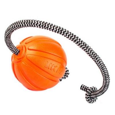 LIKER Мячик Лайкер Корд на шнуре 7см  оранжевый