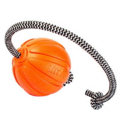 LIKER Мячик Лайкер Корд на шнуре 9см оранжевый