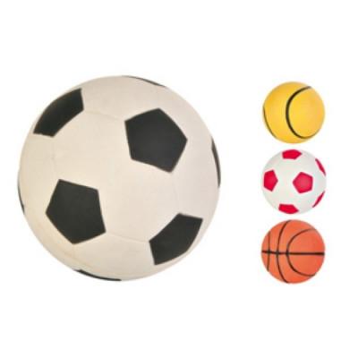 """TRIXIE Игрушка для собак """"Мяч футбольный"""" мягкая резина 7см"""