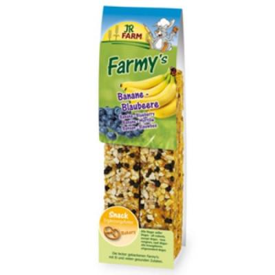 JR FARM Палочки для грызунов с бананом и черникой 160г