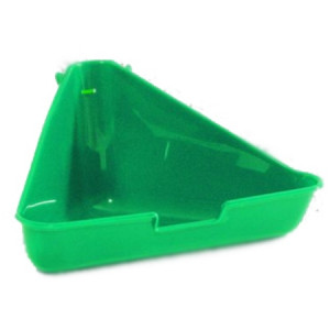 Beeztees Туалет для грызунов угловой зеленый цвет 35х20х17см